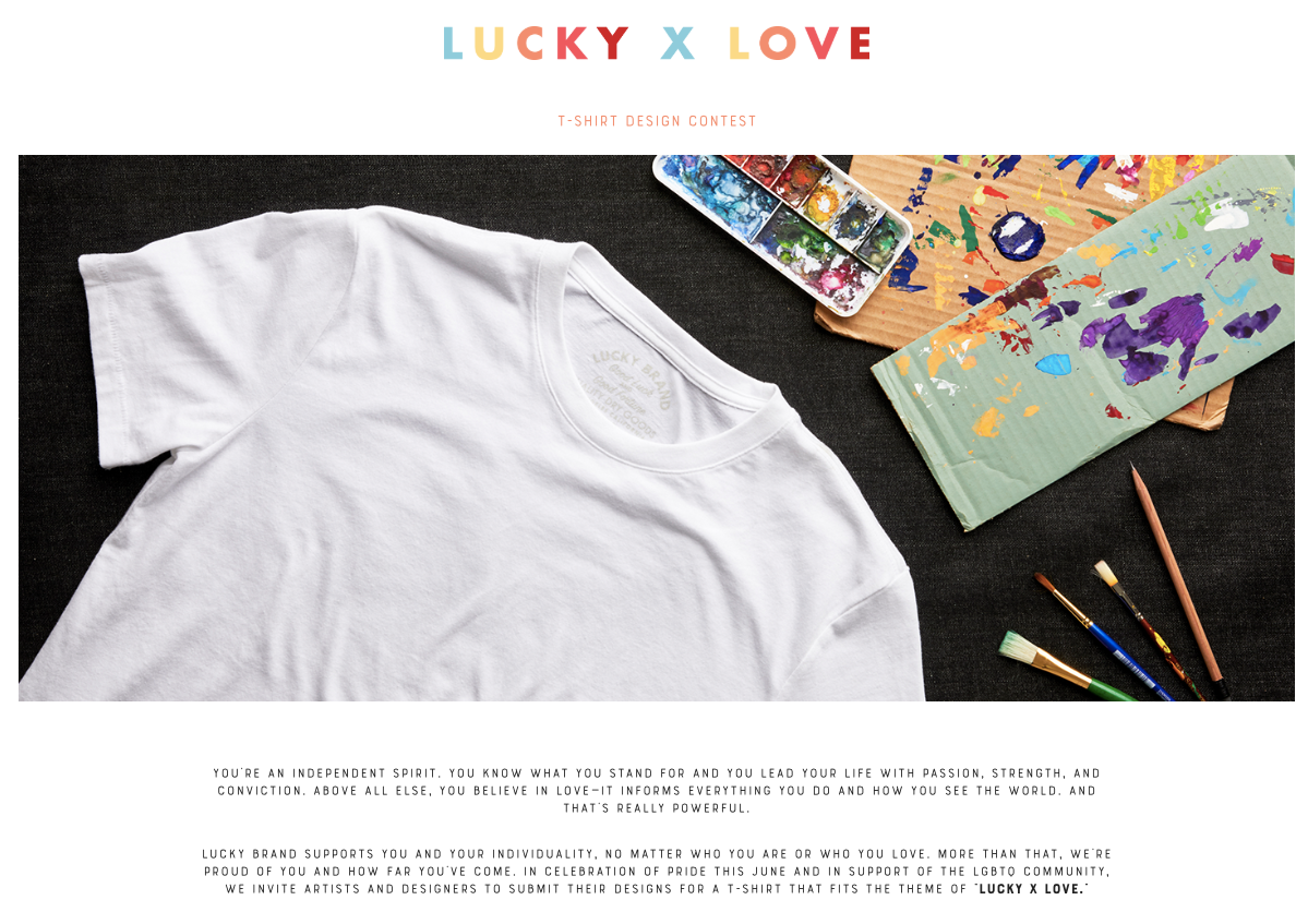 Microexperience of the Week: Lucky x Love T-Shirt Design Contest
