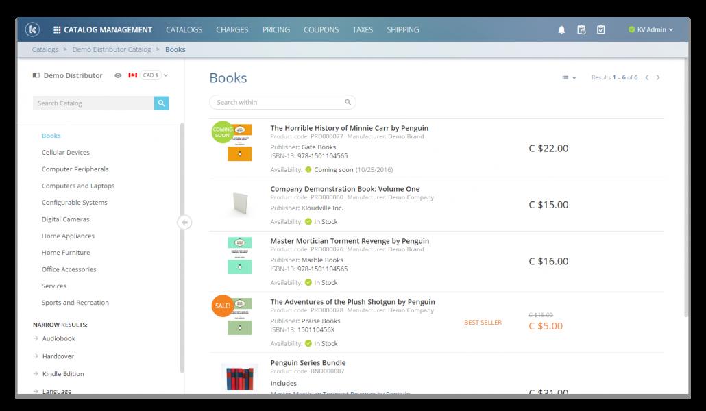 Snapshot of Catalog Management