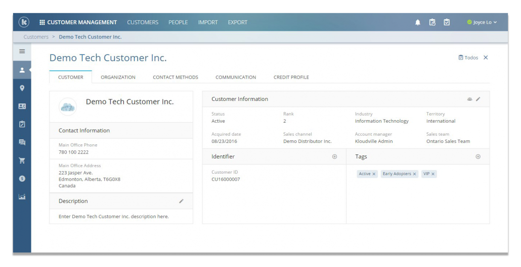 Snapshot of Contact and Customer Management