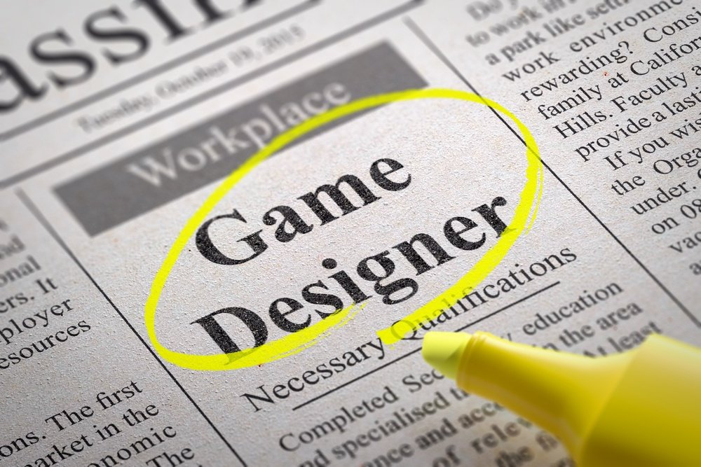Game Designer Jobs in Newspaper. Job Search Concept..jpeg