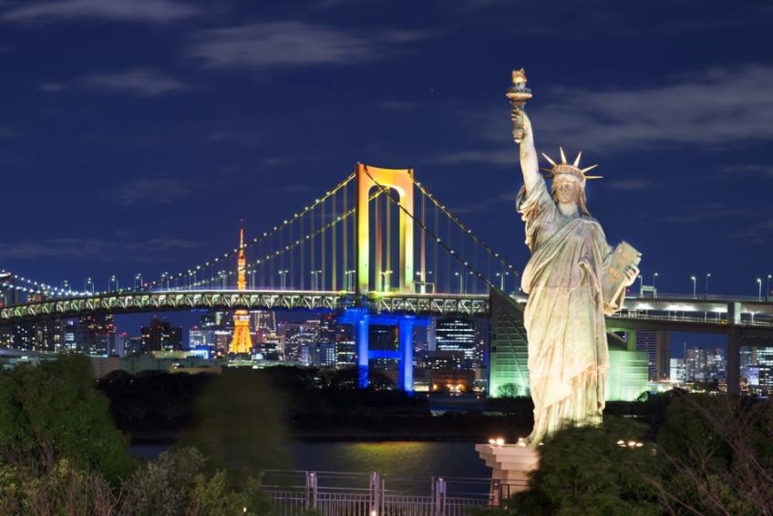 Statue of Liberty Bridge City Image