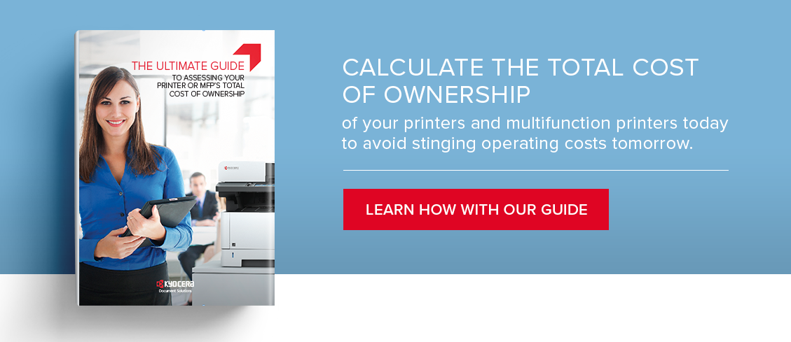 Printer TCO Guide: Calculate the total cost of ownership of your multi function devices