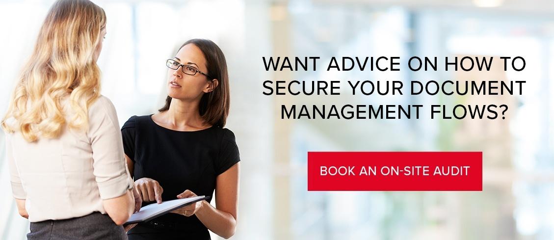 Security audit of document management processes