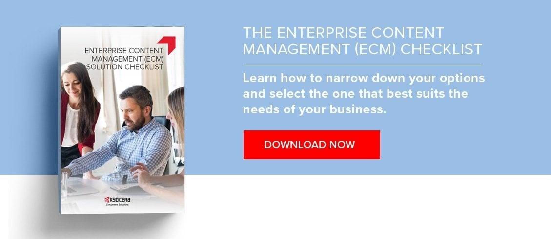 enterprise content management ECM checklist