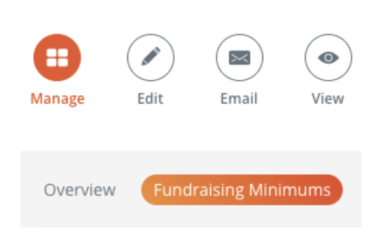 Fundraising Minimum Manager