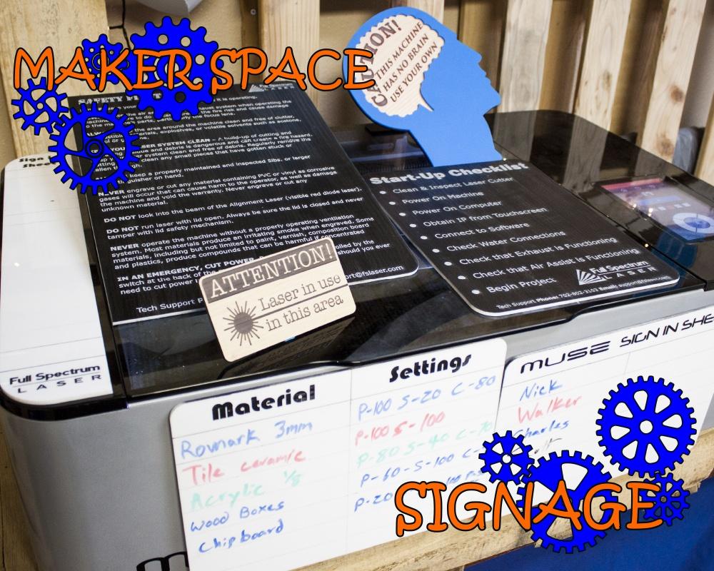0075 Maker Space Signage