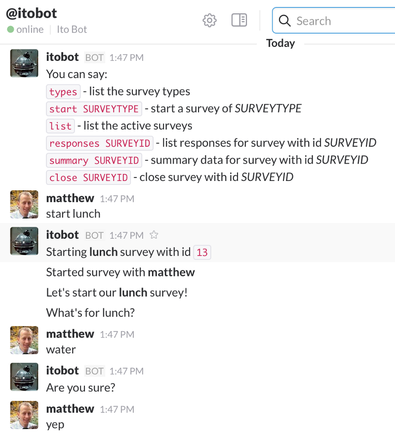 Interrogation via Slack