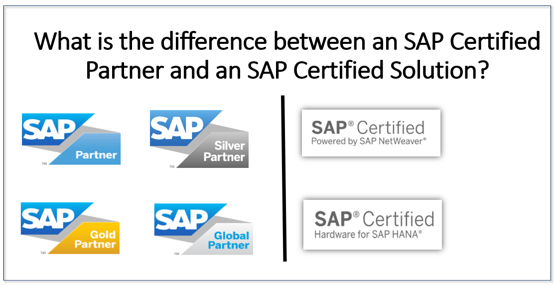 The difference between an SAP Certified Partner and an SAP