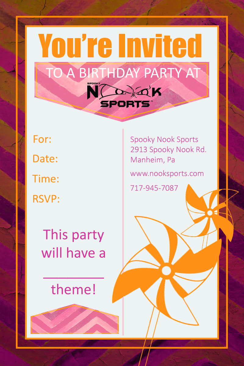 Places For Birthday Parties - Birthday Party | Spooky Nook Sports