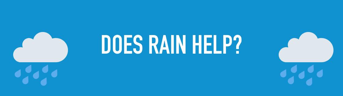 Does rain help clean your solar panels?
