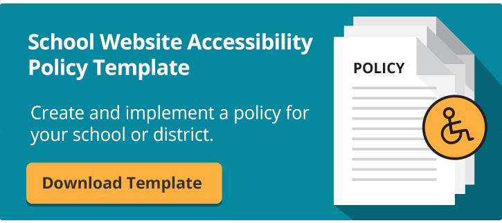 school website policy template cta