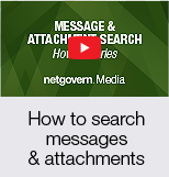 How to search messages and attachments