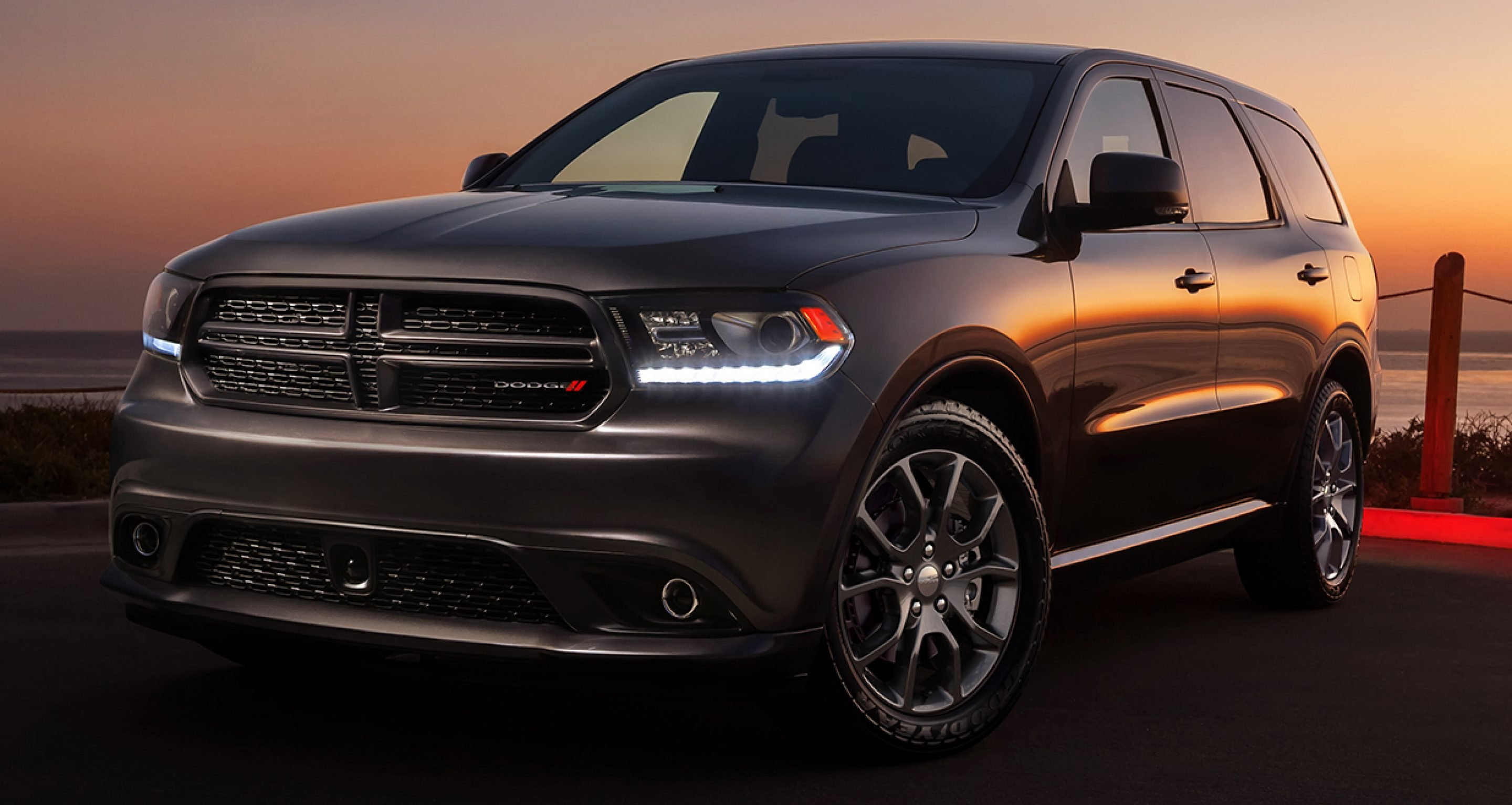 2017 Dodge Durango at night