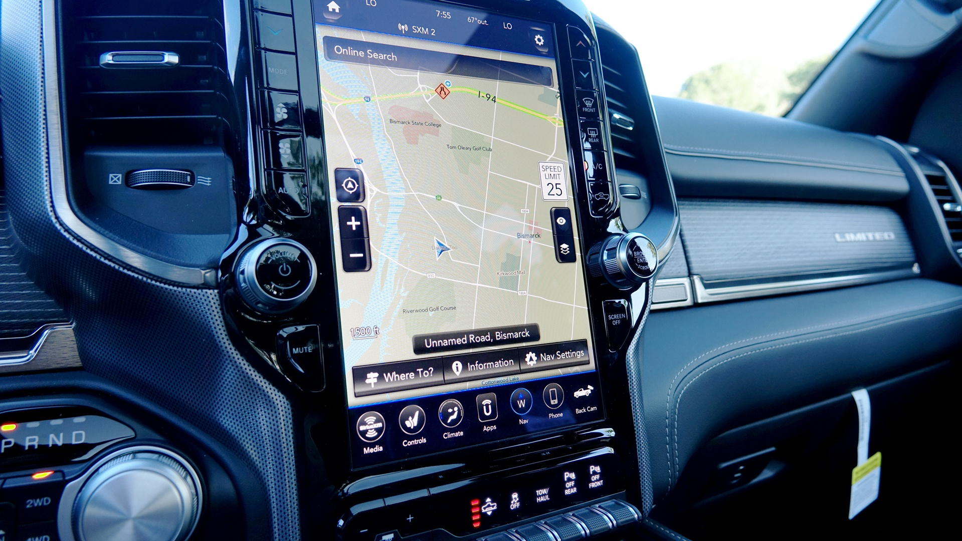 2019 Dodge RAM 1500 touch screen is best in class.