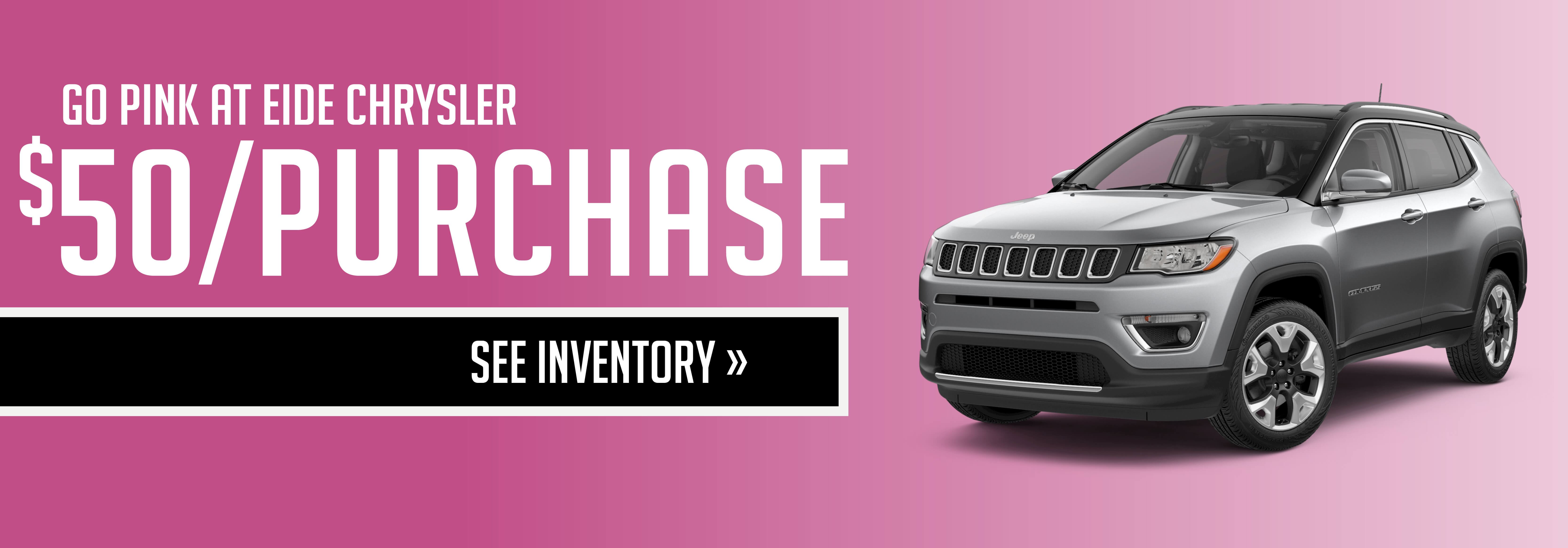 Go Pink at Eide Chrysler