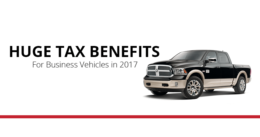 Write off the entire purchase price of your Bismarck work vehicle in 2017, thanks to the Section 179 tax deduction.