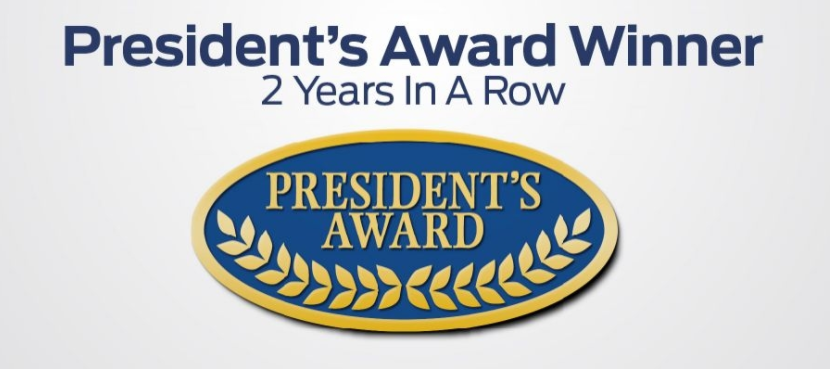 Eide ford wins second consecutive president 39 s award from for Ford motor company awards