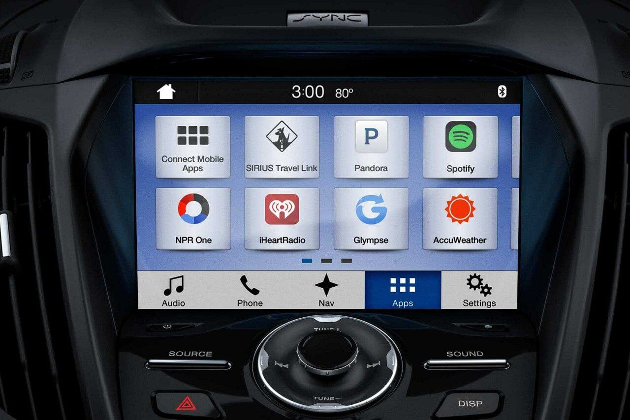 Interactive touchscreen in the new 2018 Ford Escape at Eide Ford