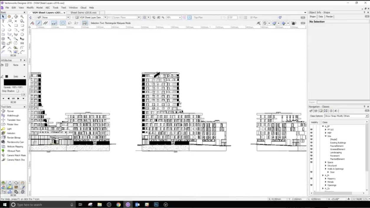 Teaser Tuesday: Vectorworks Graphics Module for Sheet Layers in Version 2019