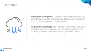 AI Definition by Google