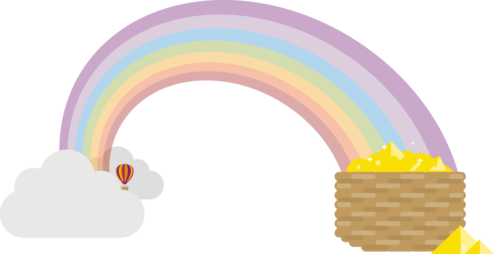 Rainbow with small balloon.png