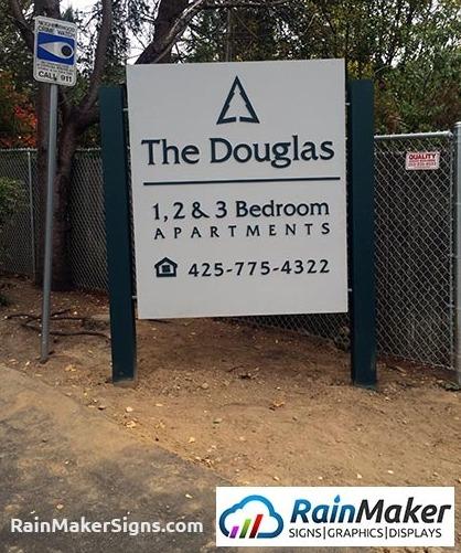Building Signs Installation At The Douglas Apartment - Lynnwood, WA