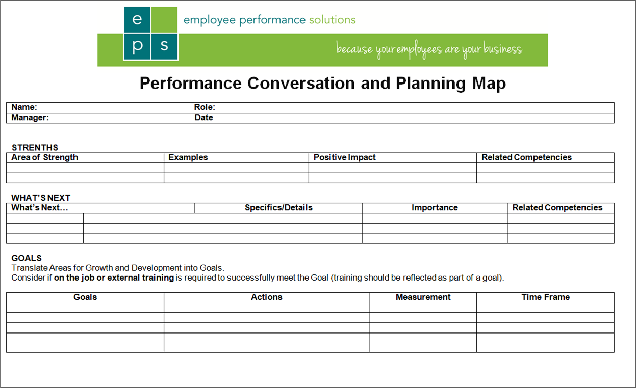 Simple 1-Page Performance Review Form