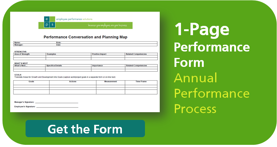 Simple 1Page Performance Review Form – Performance Review Format