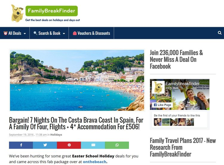Skyscanner White Label powers FamilyBreakFinder