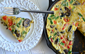 easy-veggie-frittata-meatless-monday-hip2save
