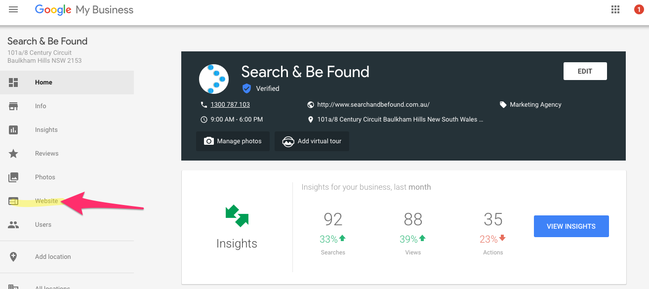 Search Be Found Dashboard