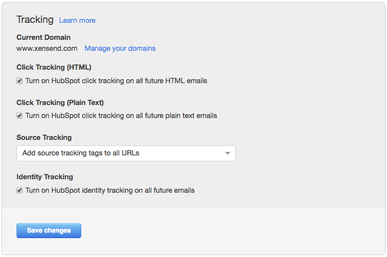 hubspot email click tracking