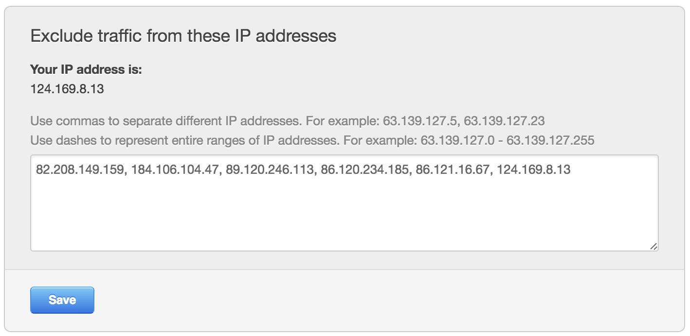hubspot exclude ip