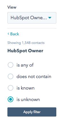 hubspot filter