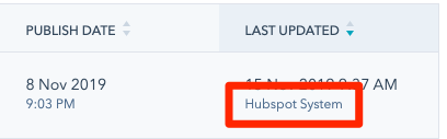 hubspot imported post author