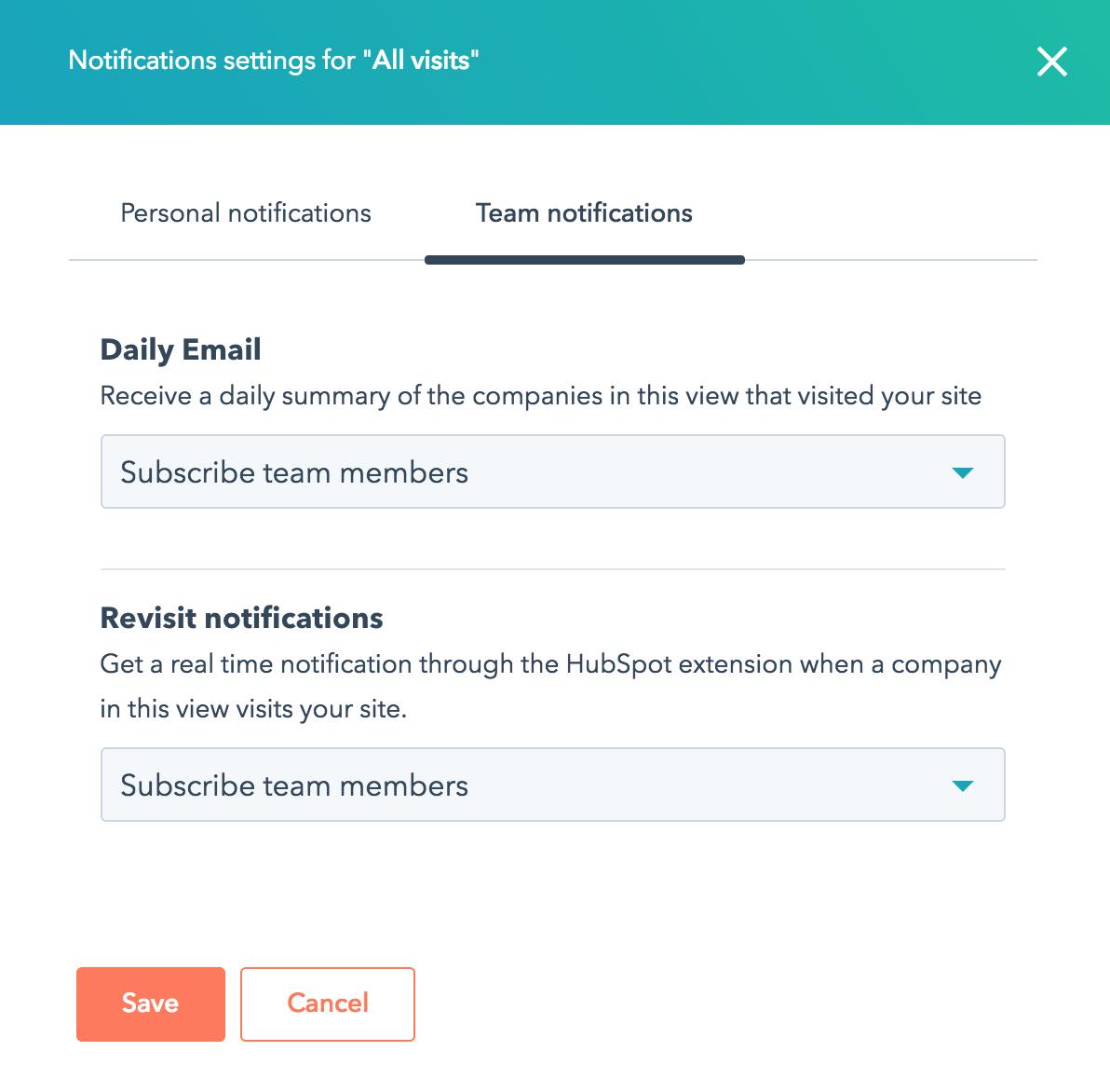 hubspot prospects notifications