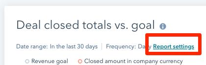 hubspot reports widget settings