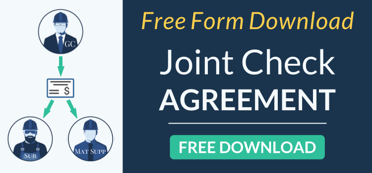 Joint Check Agreements Free Form Template Download