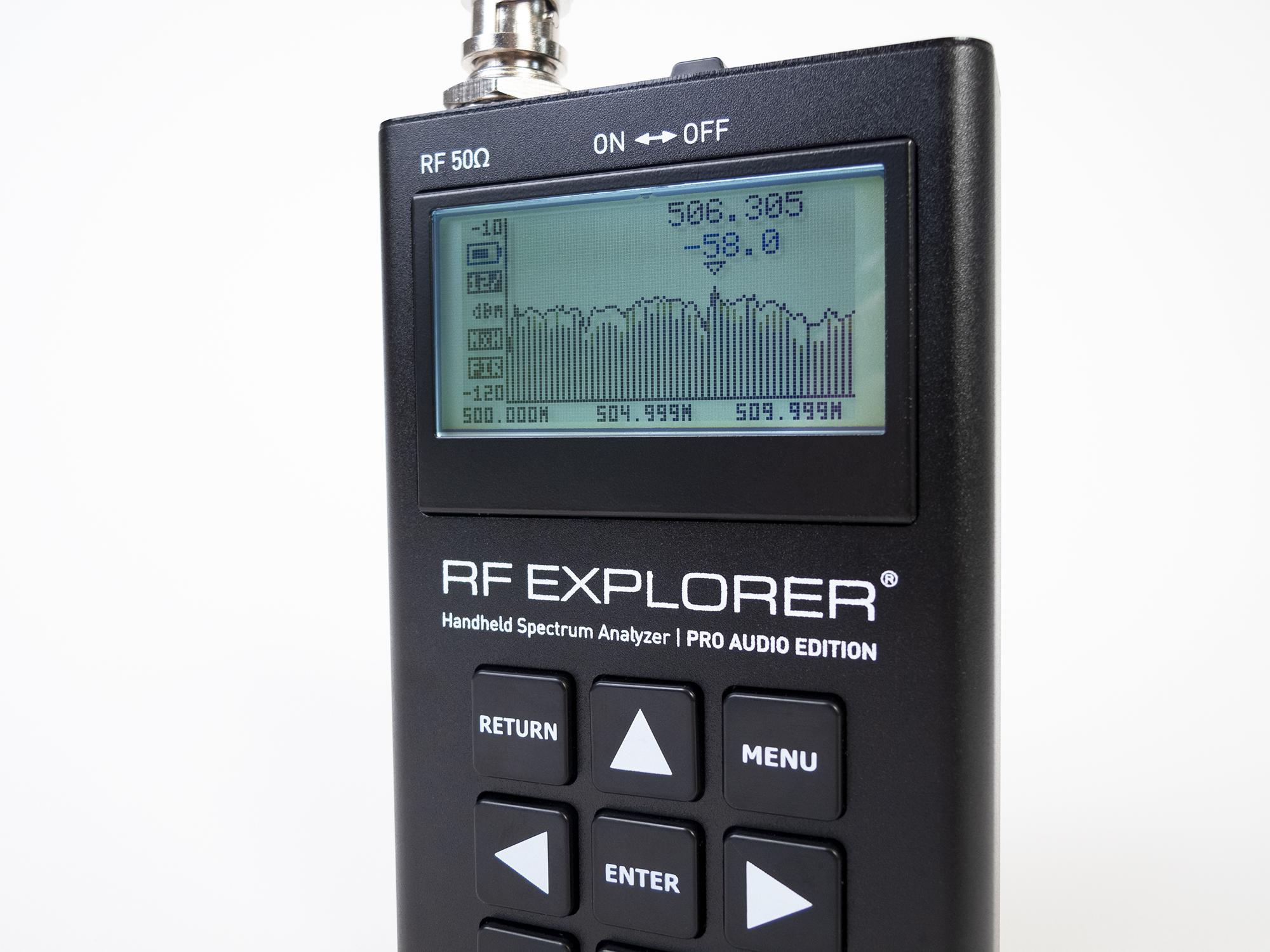 RF Explorer® Pro Audio Edition Spectrum Analyzer
