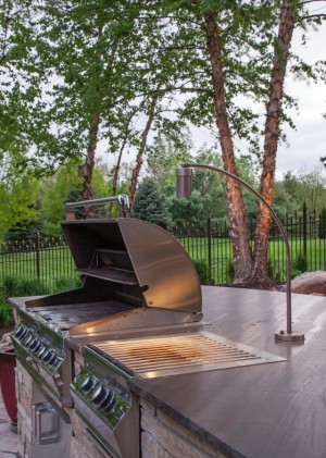 Outdoor kitchen lighting home design and decorating outdoor kitchen lighting series part two grill lighting kitchen ideas aloadofball Choice Image