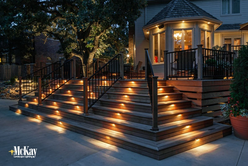 Outdoor Stair Lighting Mckay Keeps