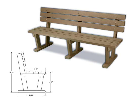 Eco Friendly Plastic Benches Made From 100 Recycled Material