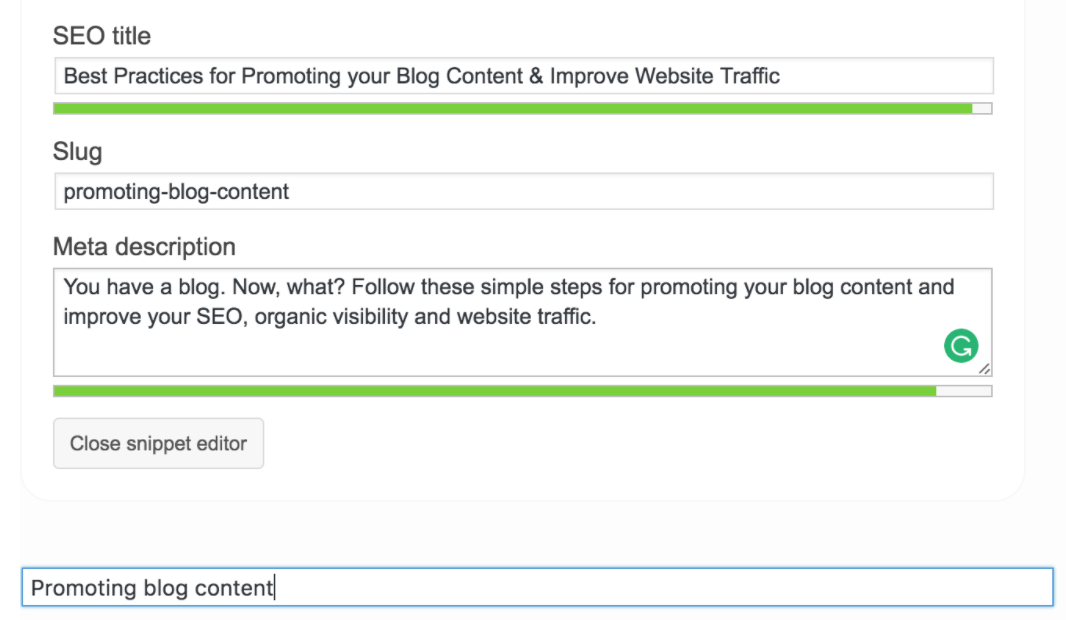 If you build it, they will come (not really) – Best practices for optimizing blog content