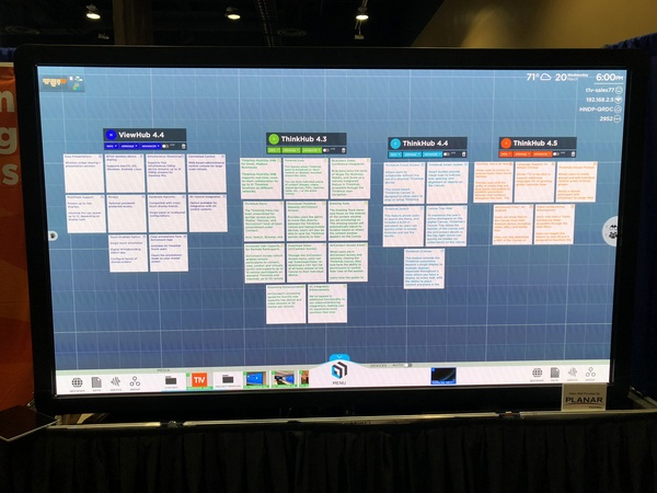 Enterprise Connect - ThinkHub Releases Depicted in ThinkHub Groups by Paul on Planar 2x2 LED MutiPanel Wall, 03.18.19 (2)