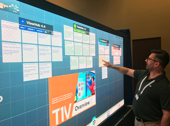Enterprise Connect, John Pecic, Planar Multipanel Wall Showing ThinkHub, 03.18.19 (1)