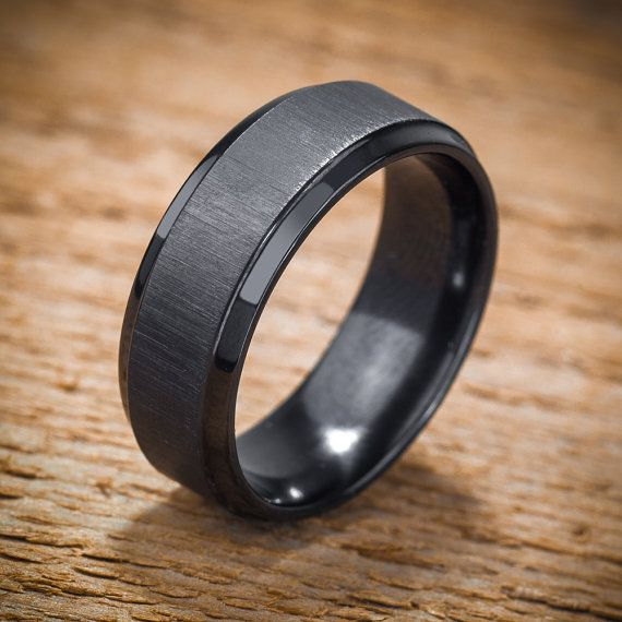 the pros cons of black wedding bands - Black Wedding Rings For Men