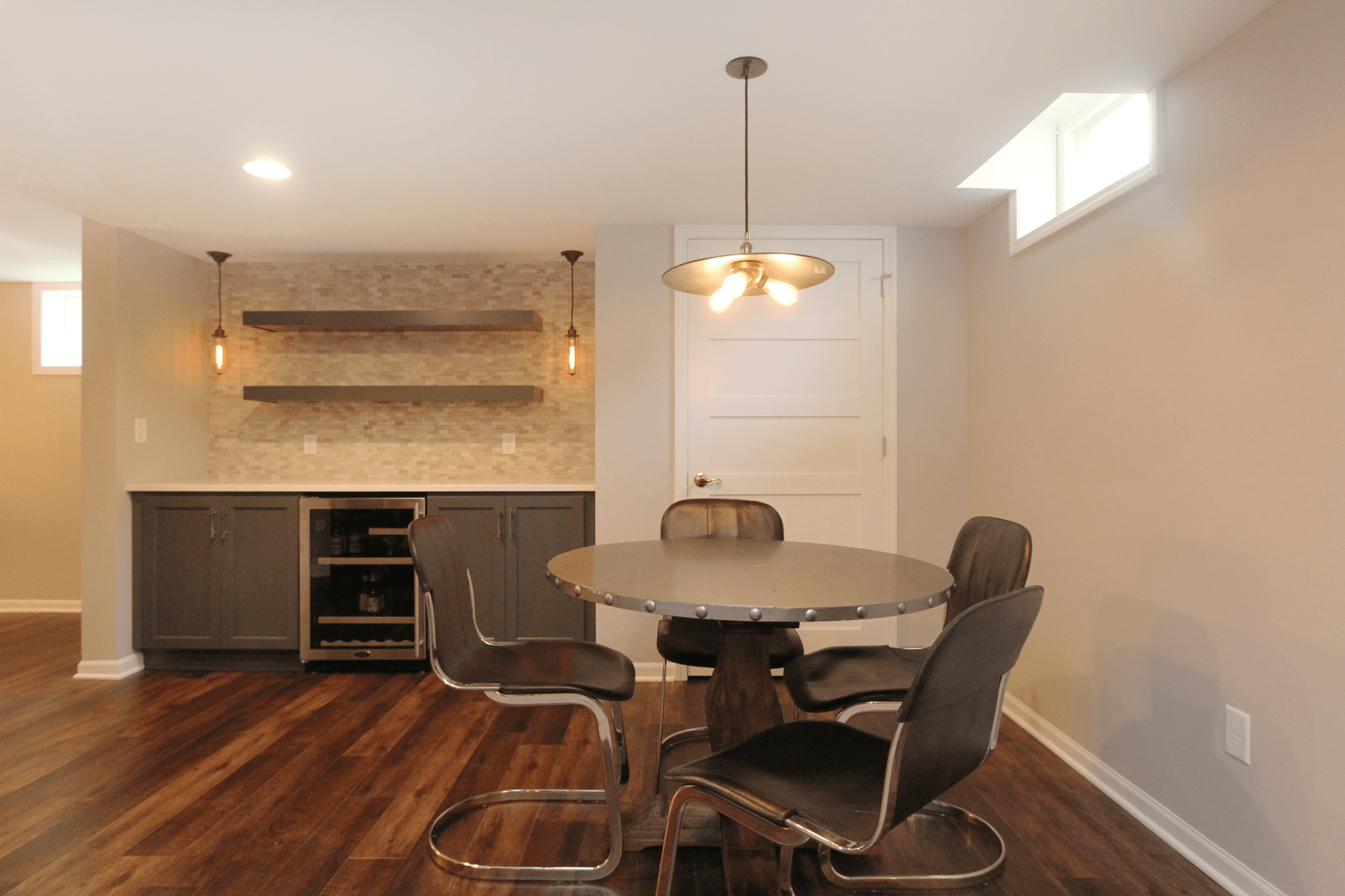 Basement Lighting Fixtures: A Basement Remodel Story: The Evolution Of A Family Hang