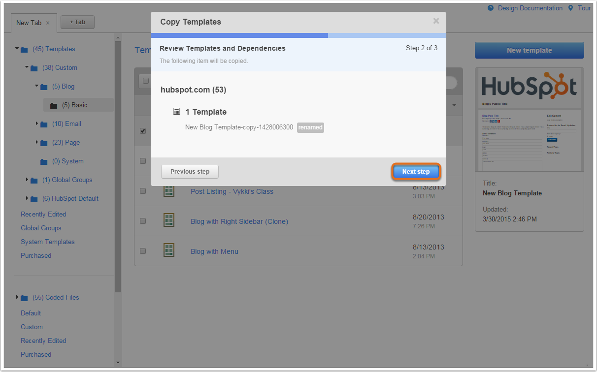 how to delete templates hubspot