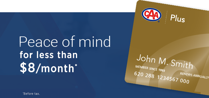Join CAA for as little as $8.09/month