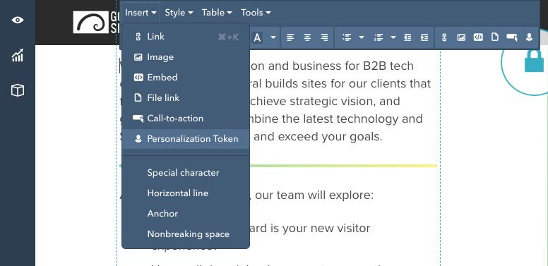 Thank You Golden Spiral HubSpot Personalization Token